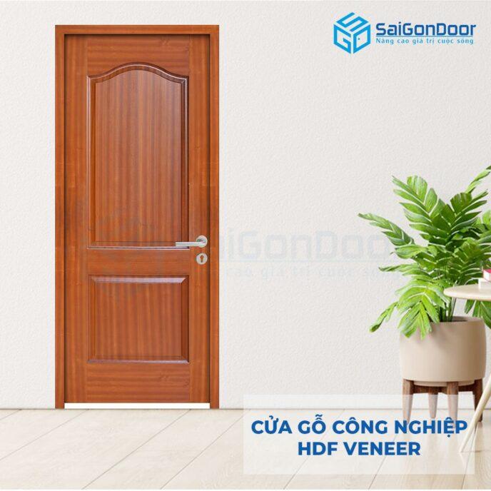 Cửa gỗ công nghiệp HDF Veneer 2A-sapele