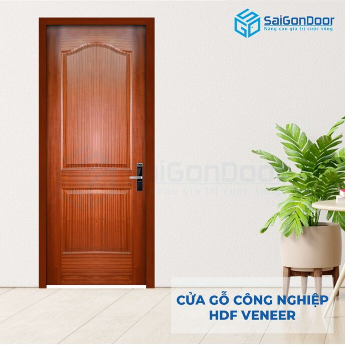 Cửa gỗ công nghiệp HDF Veneer 2A-xoan dao (2)