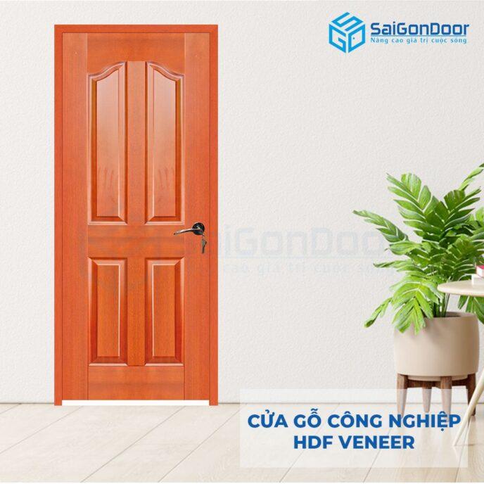 Cửa gỗ công nghiệp HDF Veneer 4A-Cam xe (2)