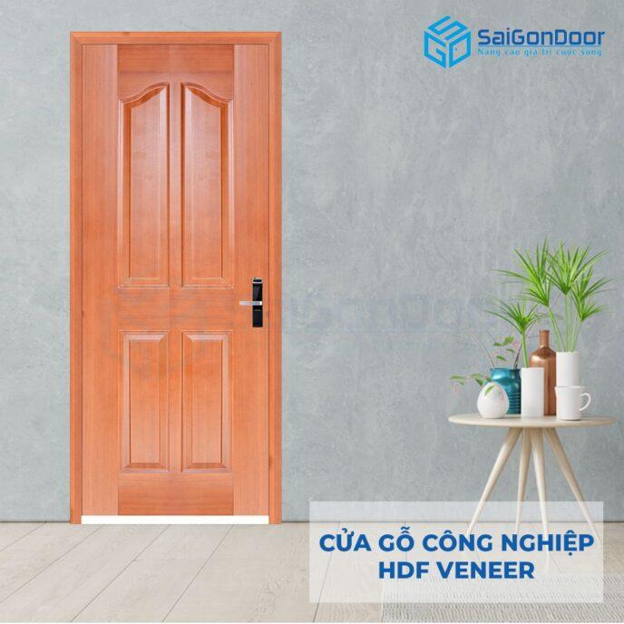 Cửa gỗ công nghiệp HDF Veneer 4A-Xoan dao (2)