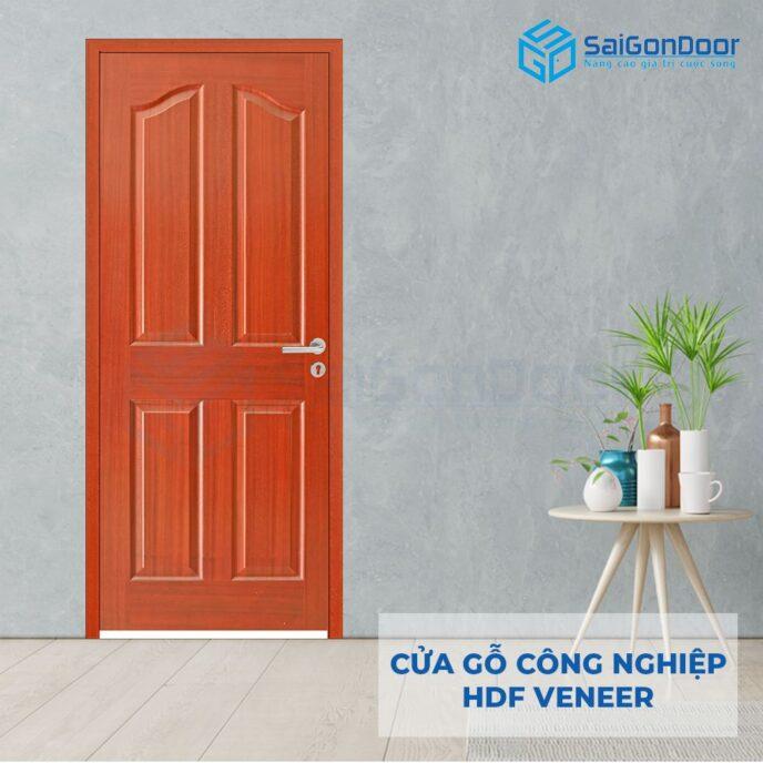 Cửa gỗ công nghiệp HDF Veneer 4A-xoa dao