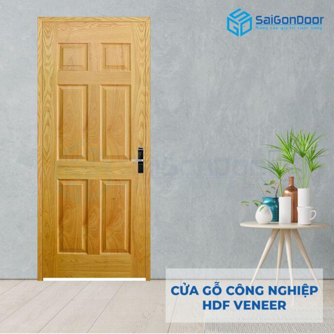 Cửa gỗ công nghiệp HDF Veneer 6A-ash (2)