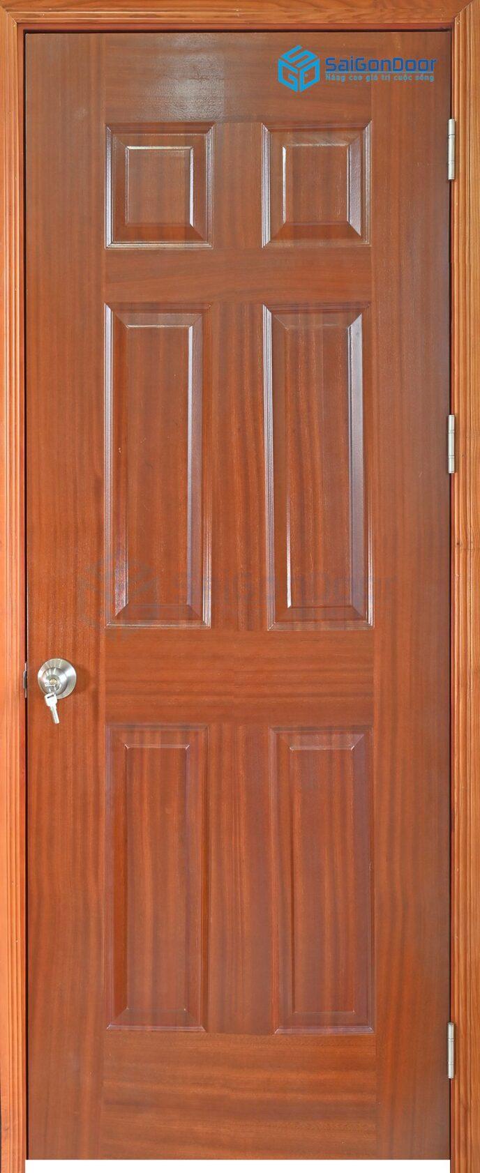 Cửa gỗ công nghiệp HDF Veneer 6A-xoan dao