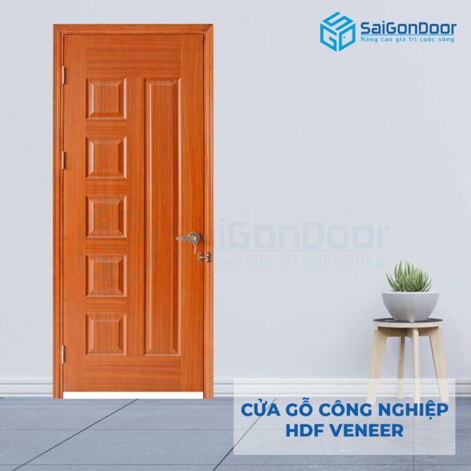 Cửa gỗ công nghiệp HDF Veneer 6B sapele