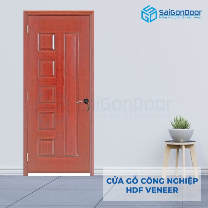 Cửa gỗ công nghiệp HDF Veneer 6B cam xe