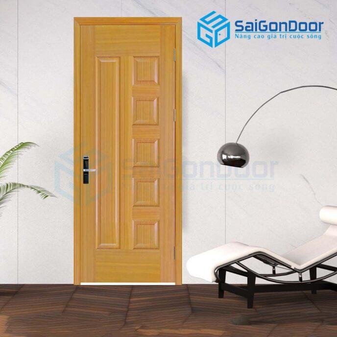 Cửa gỗ nhà tắm 6B-sapele-6
