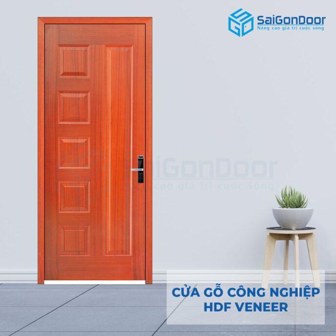 Cửa gỗ công nghiệp HDF Veneer 6B-sapely