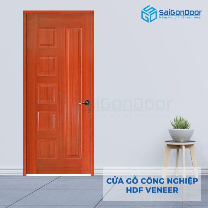 Cửa gỗ công nghiệp HDF Veneer 6B-xoa dao