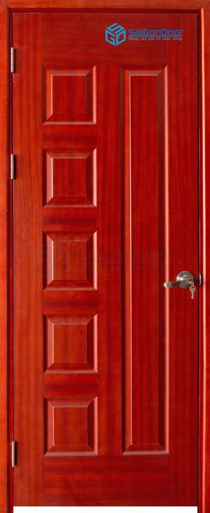 Cửa gỗ phòng ngủ Veneer 6B xoan dao (2)