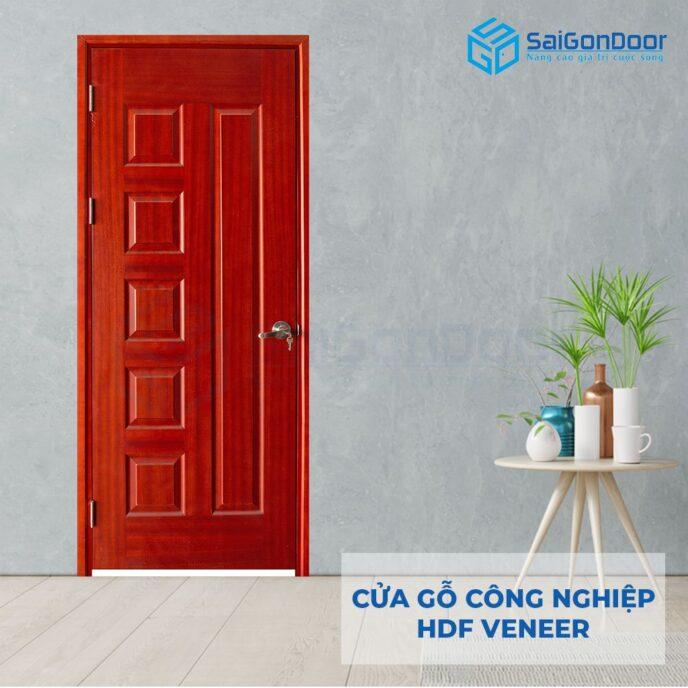 Cửa gỗ công nghiệp HDF Veneer 6B xoan dao (2)
