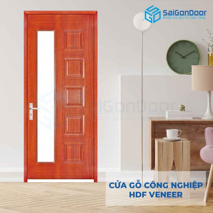 Cửa gỗ công nghiệp HDF Veneer 6GL-cam xe