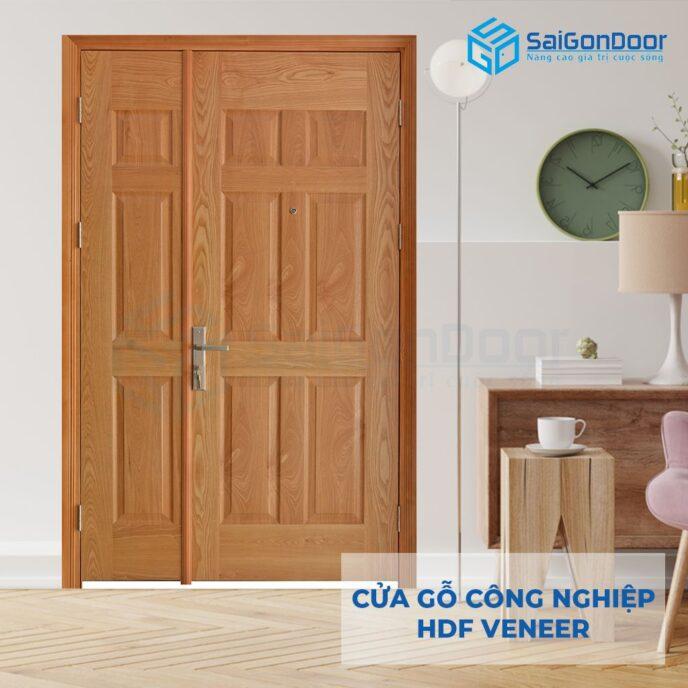 Cửa gỗ công nghiệp HDF Veneer 9A-ash (2)