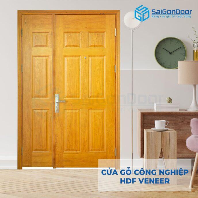 Cửa gỗ công nghiệp HDF Veneer 9A ash me bong con canh lon canh nho