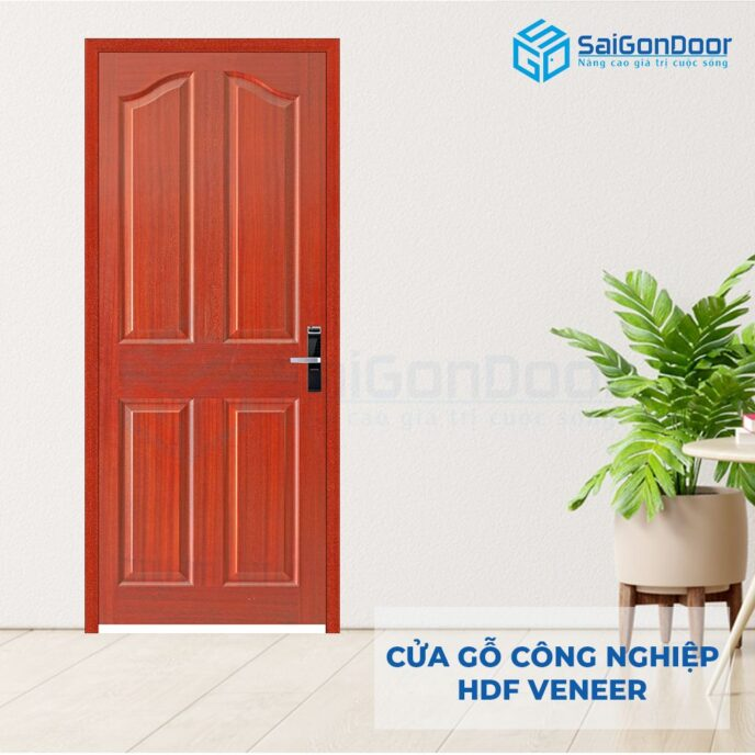 Cửa gỗ công nghiệp HDF Veneer 4A-Cam xe