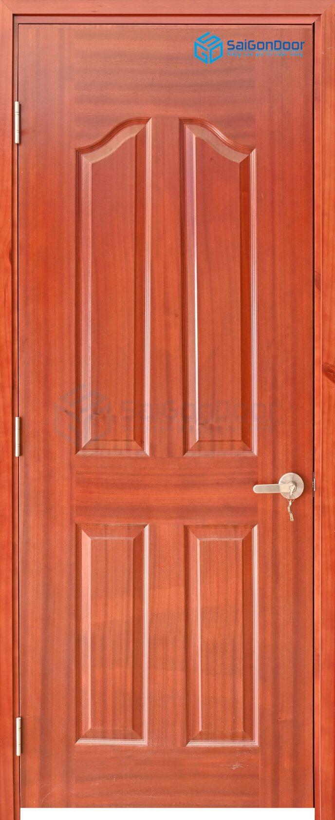 Cửa gỗ công nghiệp HDF Veneer 4A-xoan dao