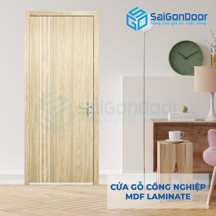 Cửa Gỗ Công Nghiệp MDF Laminate P1R2 23029