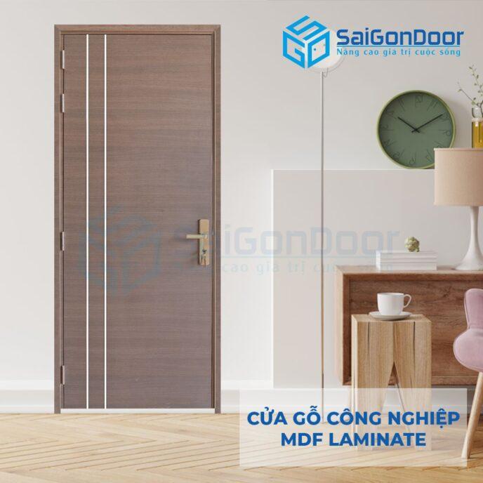 Cửa Gỗ Công Nghiệp MDF Laminate P1R2