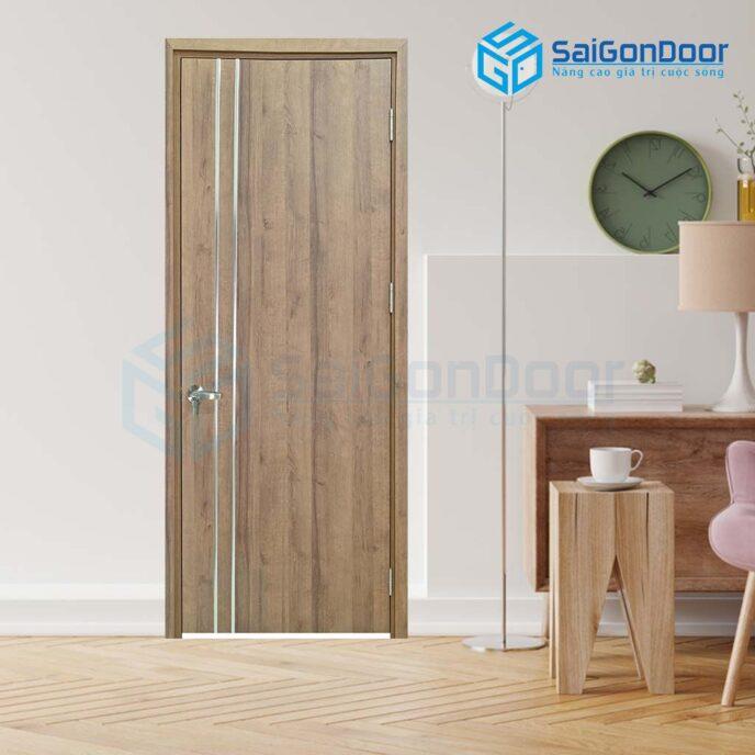 Cửa gỗ cao cấp Hàn Quốc P1R2-2