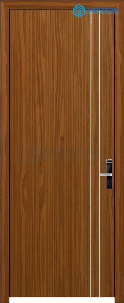 Cửa gỗ nhà tắm P1R2-son