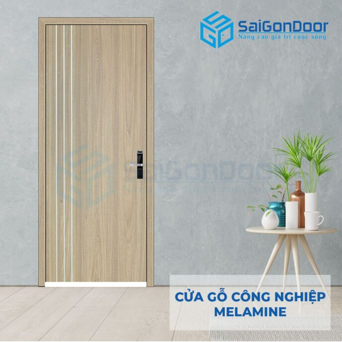 Cửa Gỗ Công Nghiệp MDF Melamine P1R3 (2302)