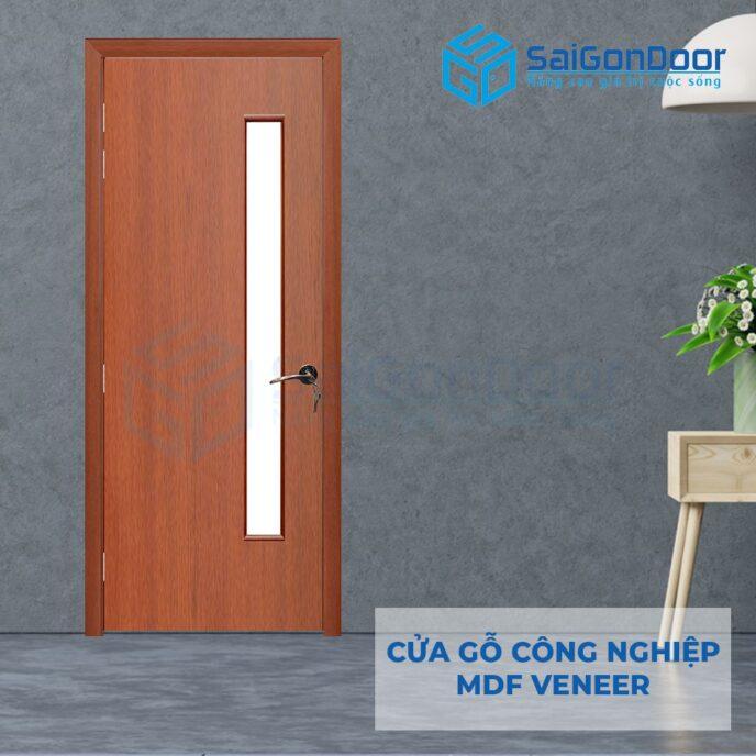 Cửa gỗ công nghiệp MDF Veneer P1G1 cam xe