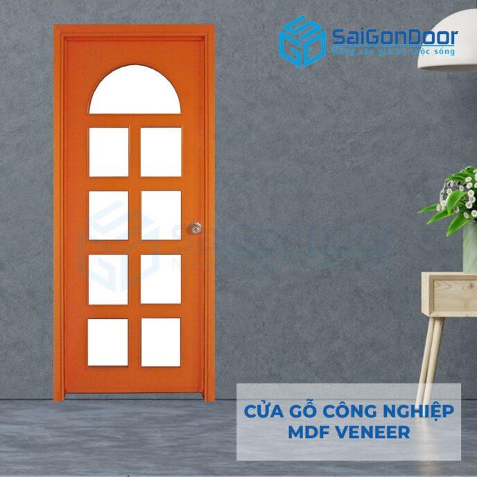 Cửa gỗ công nghiệp MDF Veneer P1G9 cam