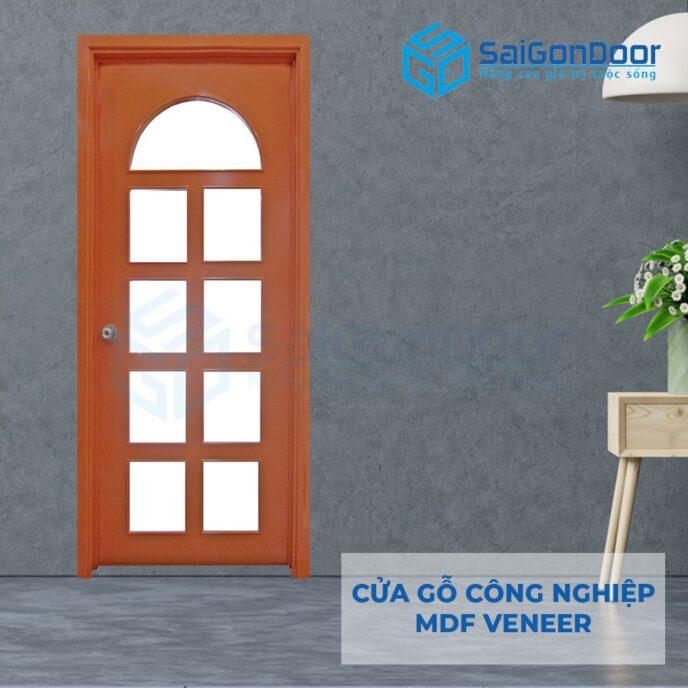 Cửa gỗ công nghiệp MDF Veneer P1G9 do