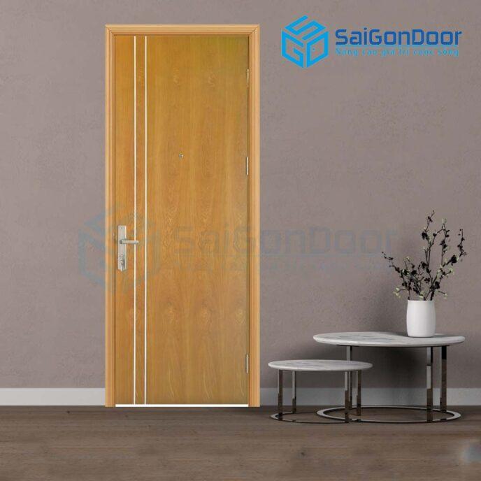 Cửa gỗ cao cấp PVC MDF Veneer P1R2 soi (2)