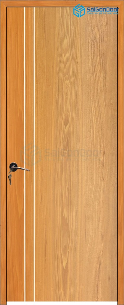 Cửa gỗ công nghiệp MDF Veneer P1R2 soi 4