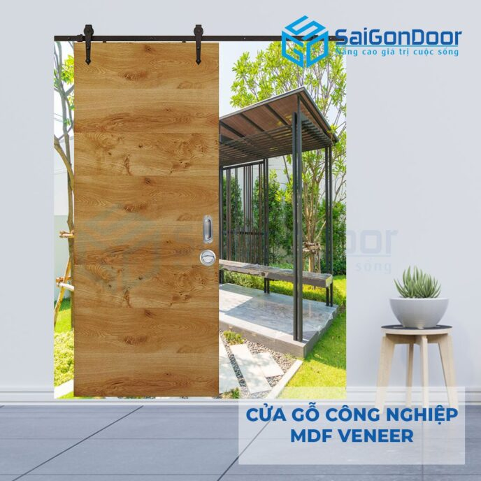 Cửa gỗ công nghiệp MDF Veneer lua treo
