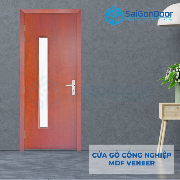 Cửa gỗ công nghiệp MDF Veneer P1G1 cam xe 3
