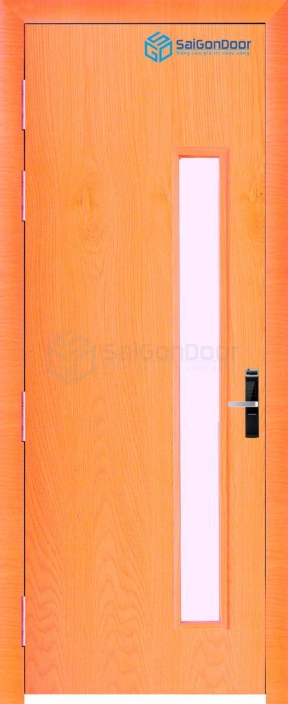 Cửa gỗ nhà vệ sinh P1GL-Xoan-dao