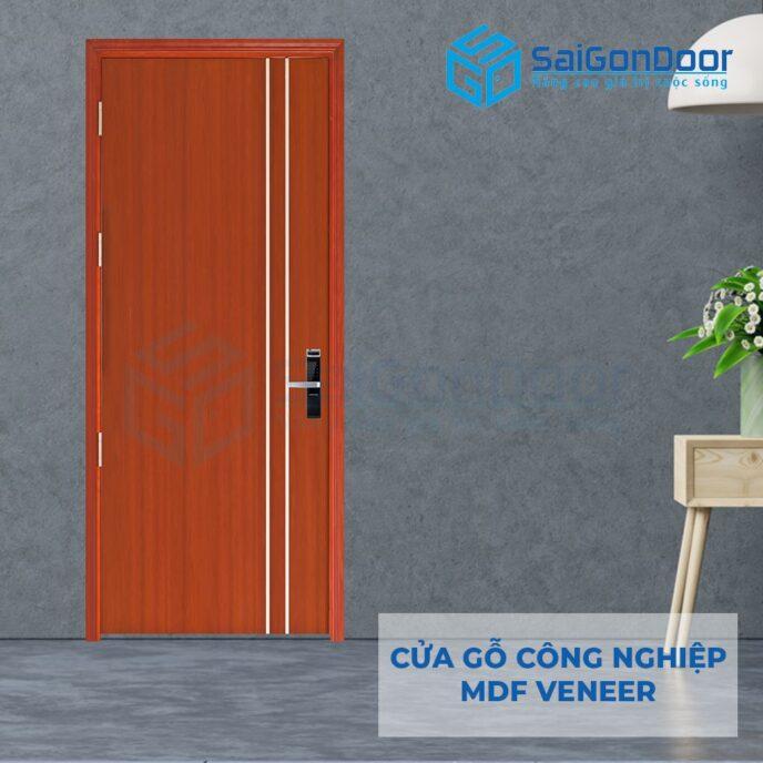 Cửa gỗ công nghiệp MDF Veneer P1R2 cam xe 2