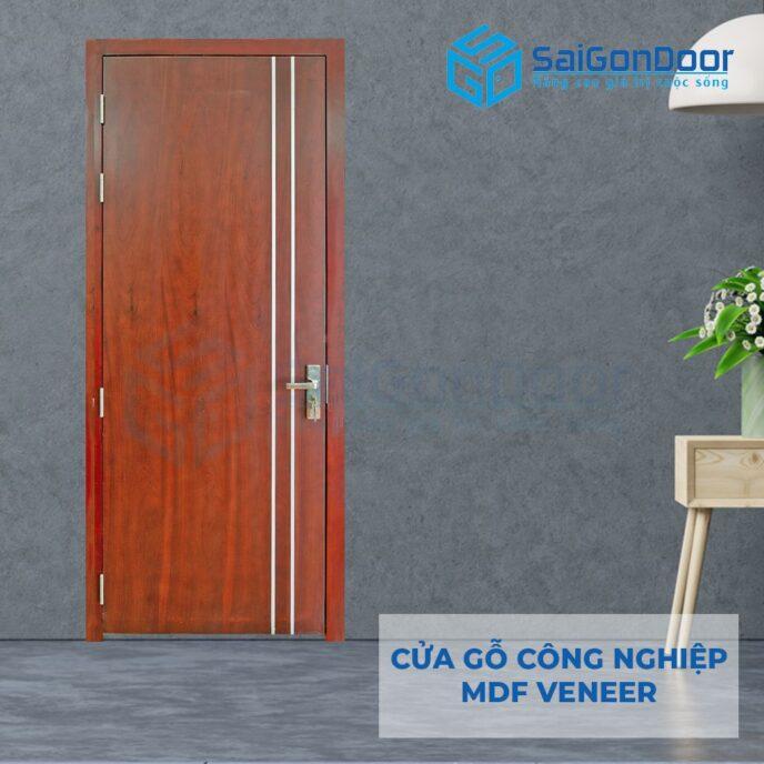 Cửa gỗ công nghiệp MDF Veneer P1R2 cam xe 3