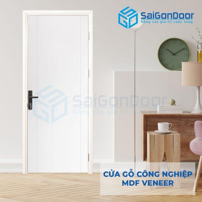 Cửa gỗ công nghiệp MDF Veneer P1R4-C1 2