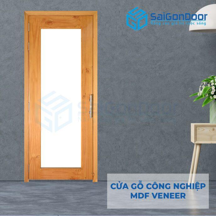 Cửa gỗ công nghiệp MDF Veneer o kinh