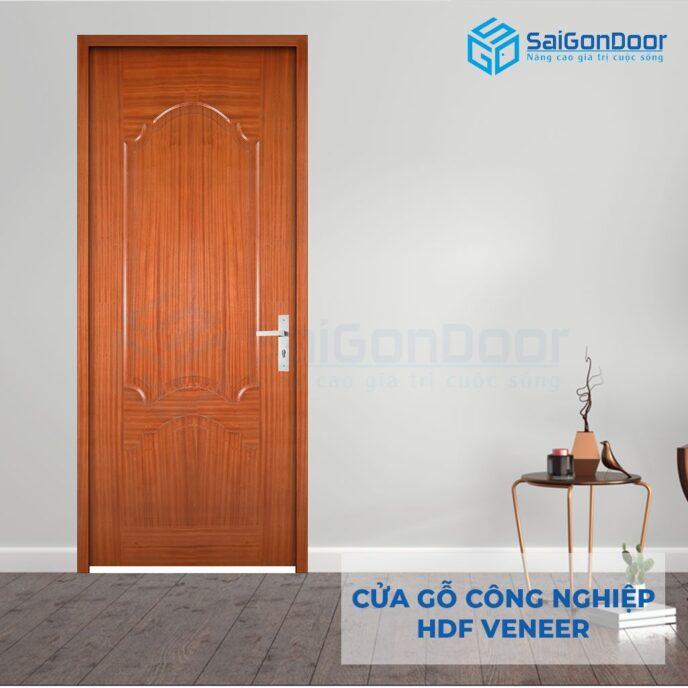Cửa gỗ công nghiệp HDF Veneer HDF Veneer 2A xoan dao (lum)
