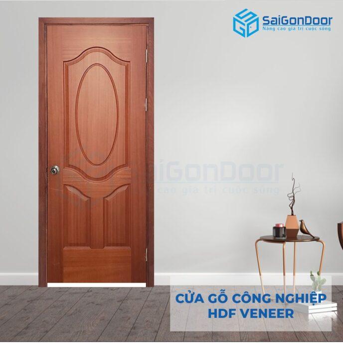Cửa gỗ công nghiệp HDF Veneer HDF Veneer 3A xoan dao