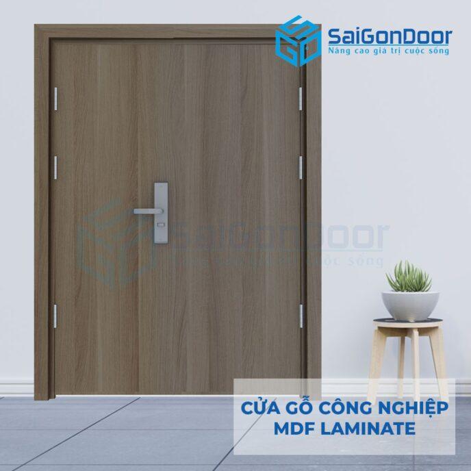Cửa Gỗ Công Nghiệp MDF Laminate 2P111