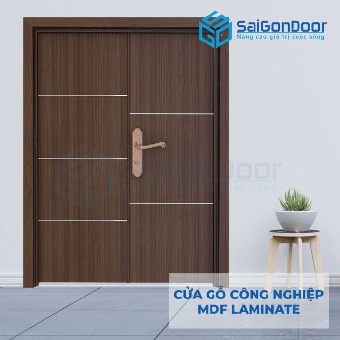 Cửa Gỗ Công Nghiệp MDF Laminate 2P1R52s