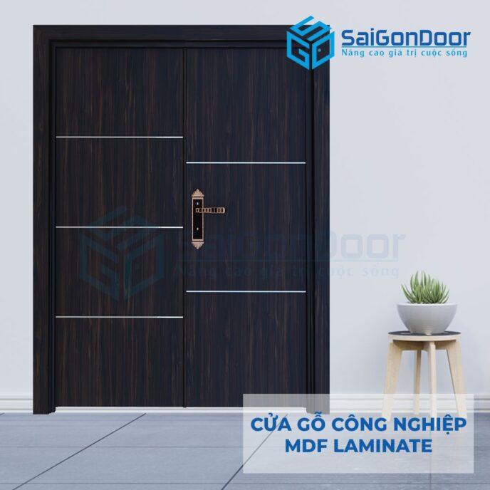 Cửa Gỗ Công Nghiệp MDF Laminate 2P1R5s