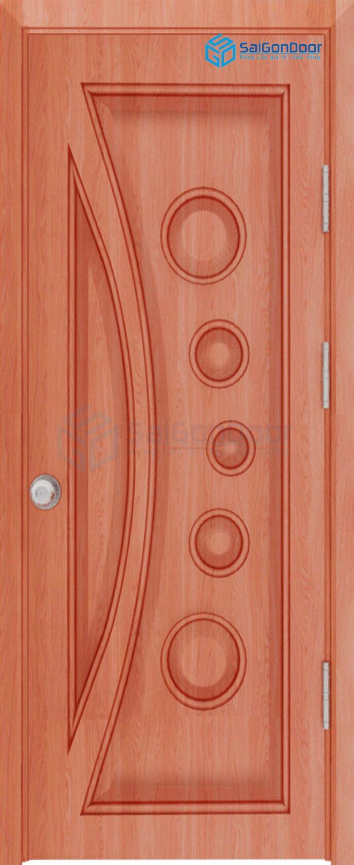Cửa gỗ công nghiệp HDF Veneer SGD 1K Xoan dao (1)