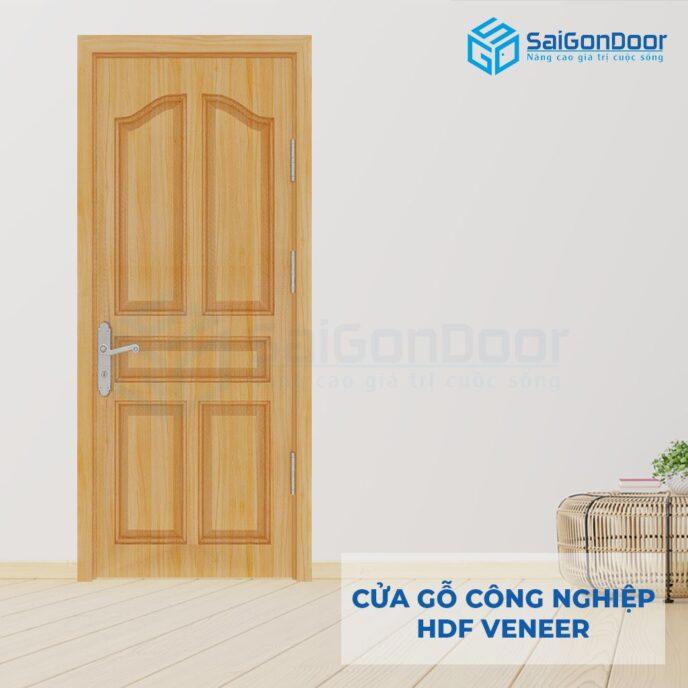 Cửa gỗ công nghiệp HDF Veneer SGD 5A ash (1)