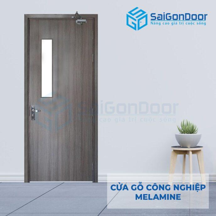 Cửa gỗ nhà tắm SGD-Melamine-P1G1