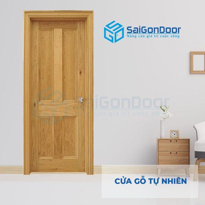 Cửa gỗ tự nhiên 4A soi