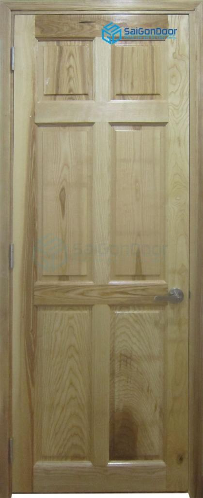 Cửa gỗ tự nhiên 6A soi