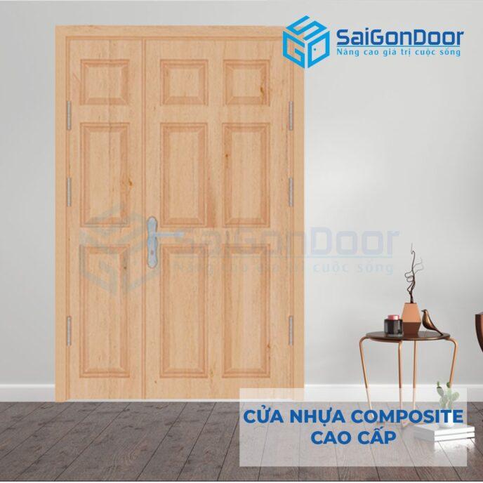 Cửa nhựa Composite 2-canh-9A-Oak-2