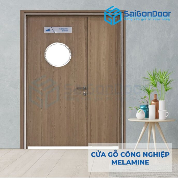 Cửa Gỗ Công Nghiệp MDF Melamine P2G0