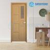 Cửa Nhựa Phòng Ngủ SGD-TW6-D
