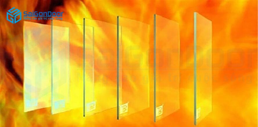 Kính chống cháy giúp ngăn cháy hiệu quả